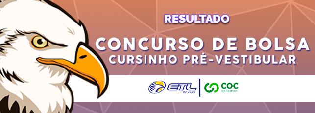Resultado Concurso de Descontos - Cursinho ETL - ETL