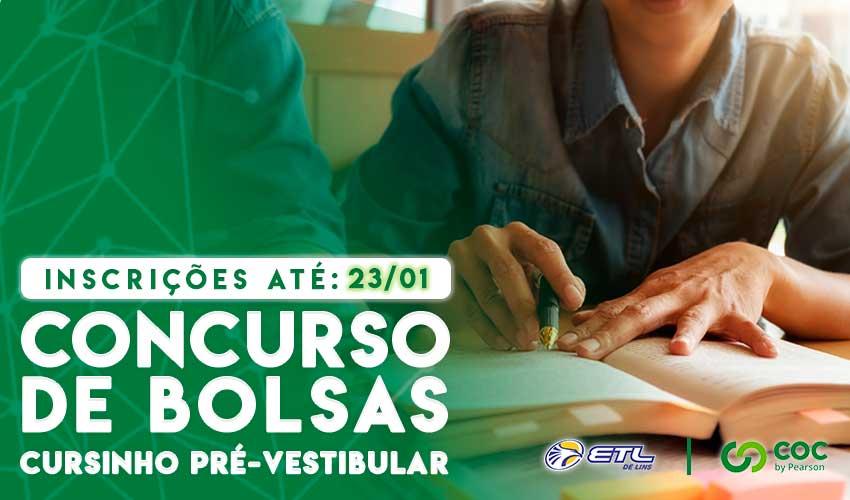 Concurso de Descontos para Cursinho Pré-Vestibular - ETL