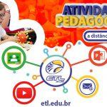 Atenção: Atividades pedagógicas - ETL
