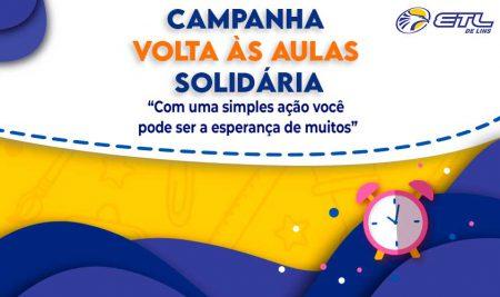 ETL lança campanha Volta às Aulas Solidária