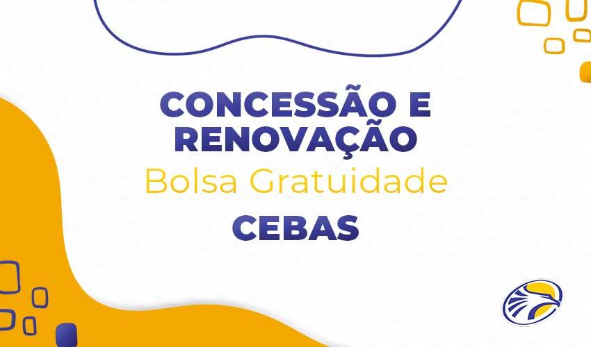 Inscrições abertas para o processo de renovação e concessão de bolsas gratuitas CEBAS - ETL